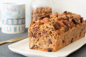 Délicieux cake aux fruits secs et amandes