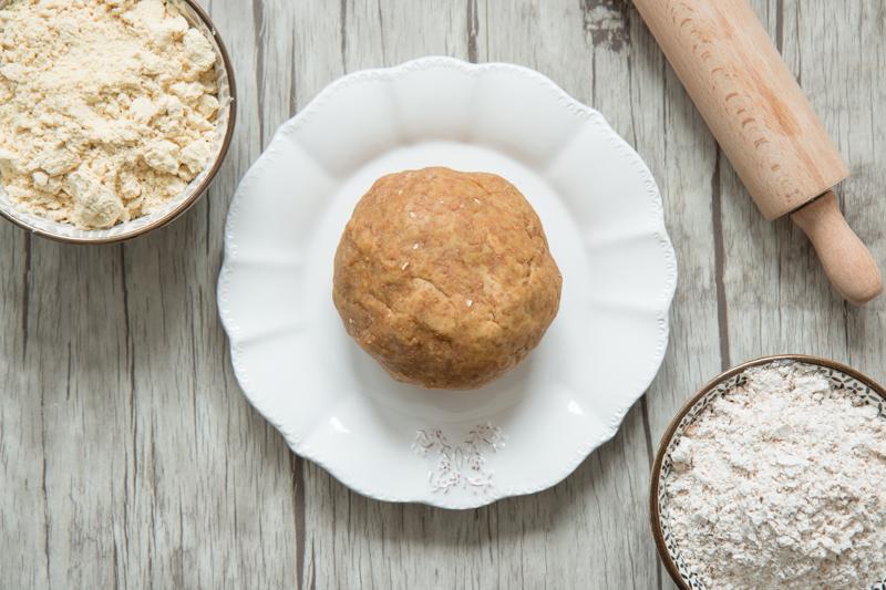 Pâte à tarte ig bas à la farine d'épeautre intégrale et soja