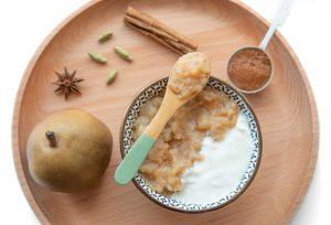 Compote de fruits aux 3 épices et miso blanc