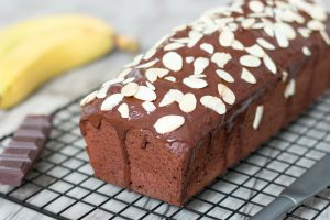 Cake moelleux choco-banane ig bas
