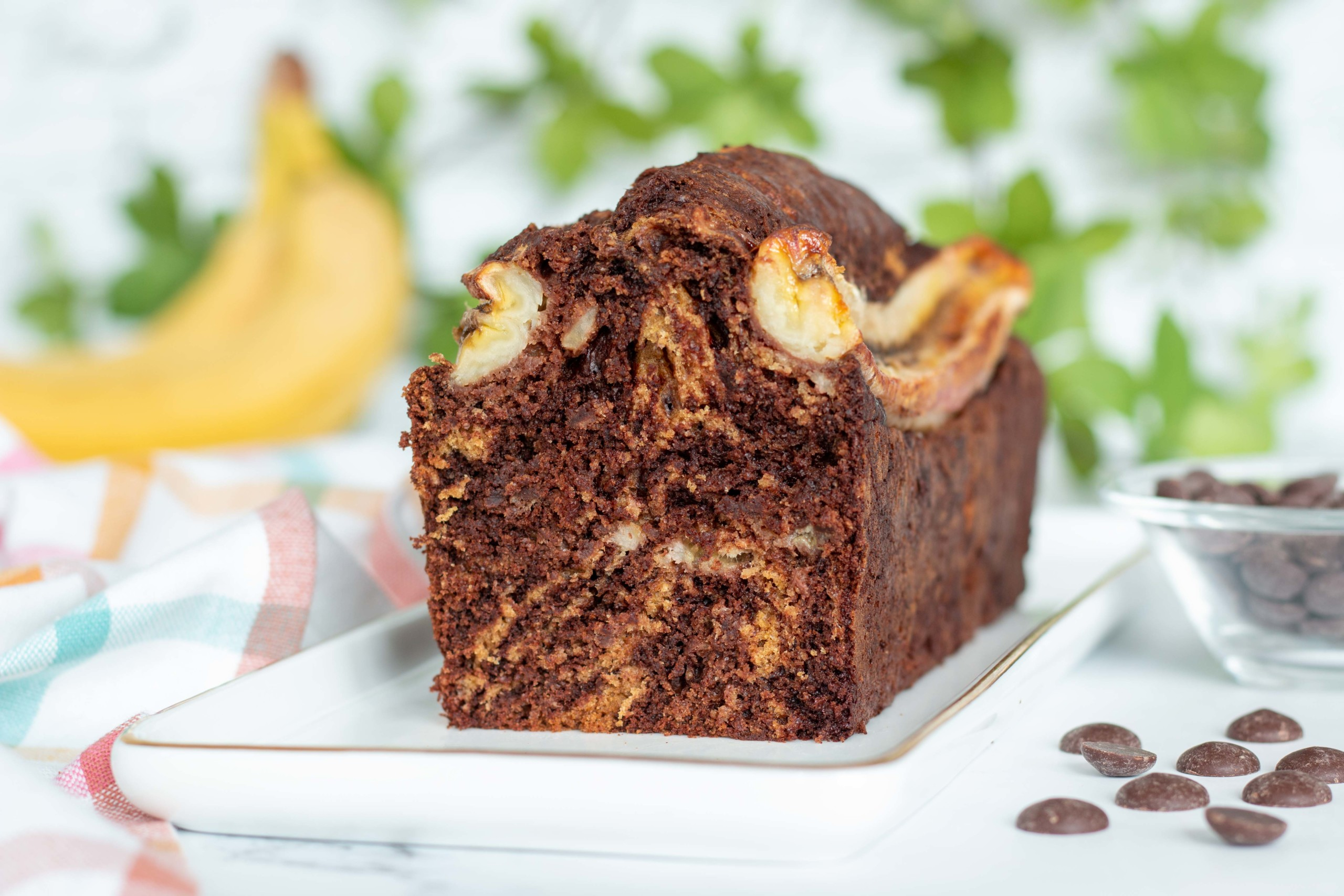 You are currently viewing Cake moelleux choco-banane ig bas