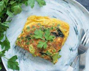 Omelette aérienne aux légumes verts