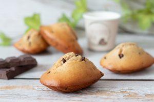 Read more about the article Madeleines à la purée d'amande et pépites de chocolat