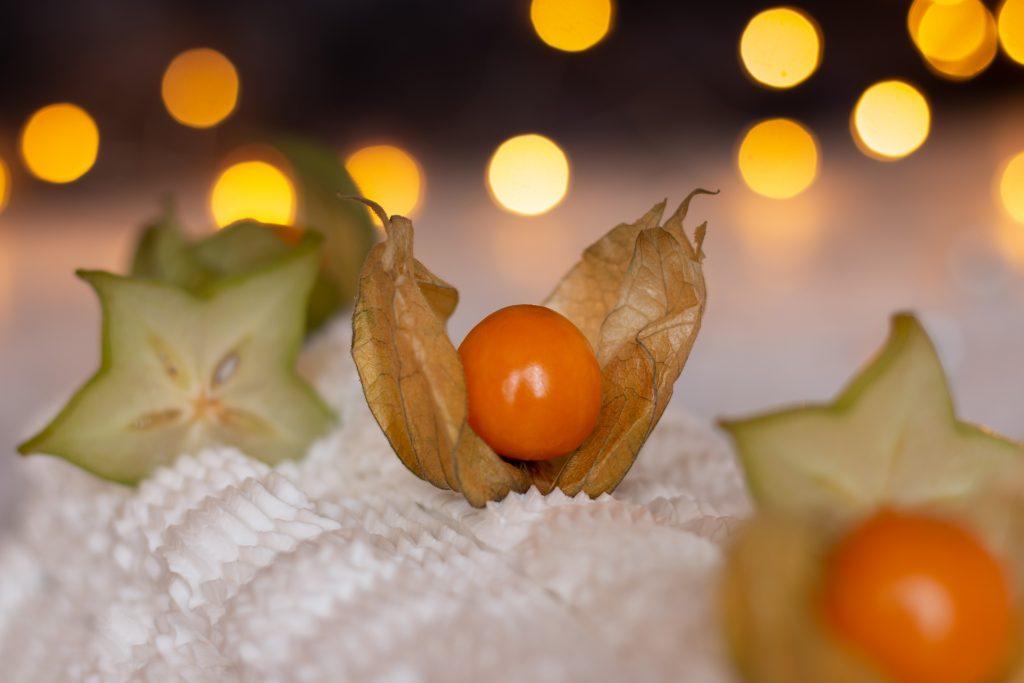 bûche aux fruits exotiques