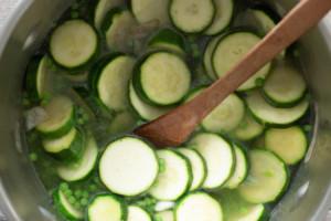 soupe courgettes petits pois