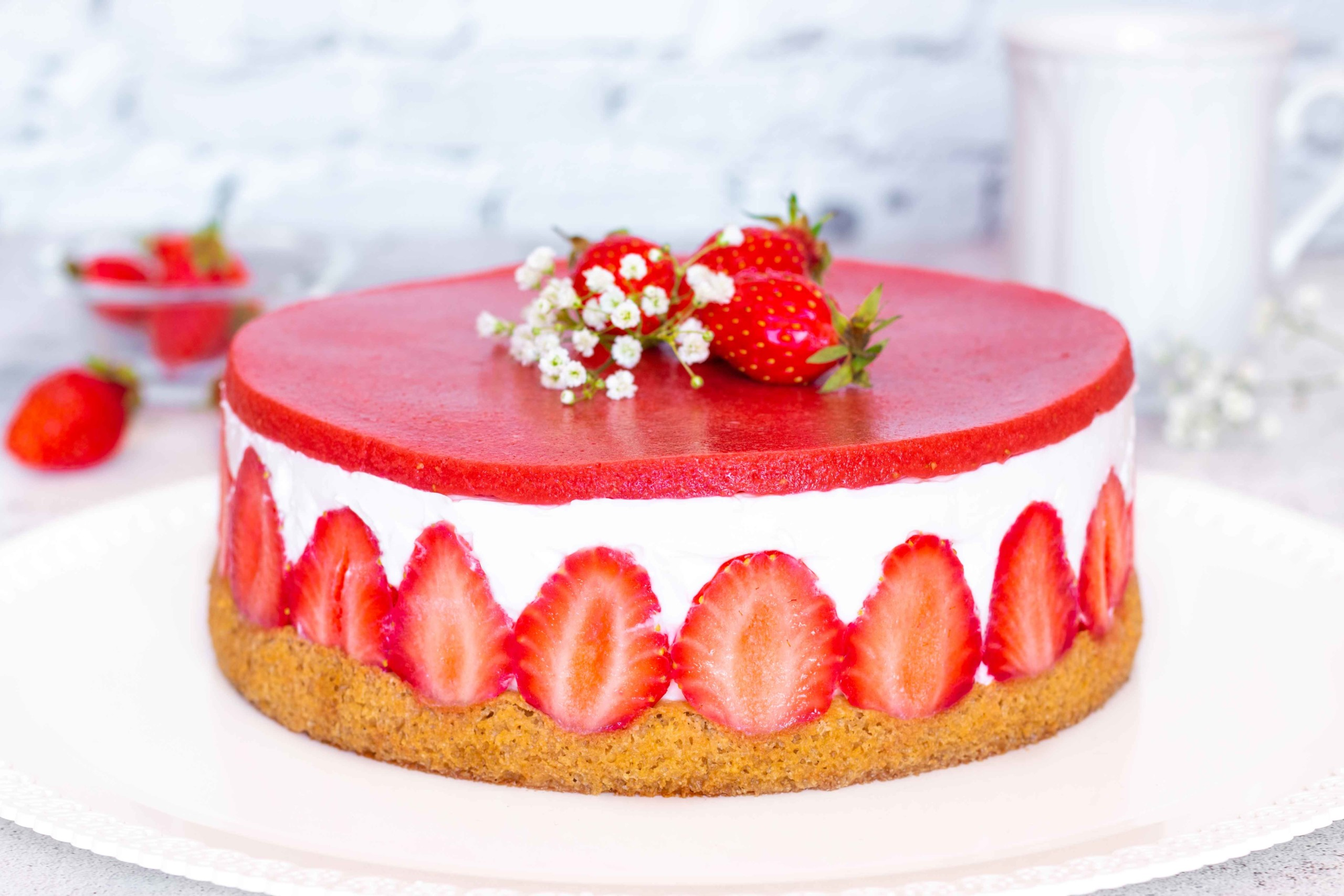 You are currently viewing Fraisier léger et gourmand