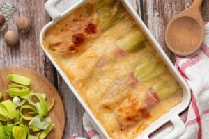 Read more about the article Gratin de poireaux au jambon